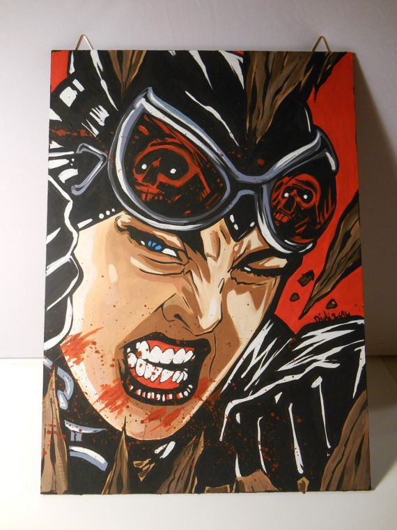 Catwoman  canvas by grimNglam on Etsy