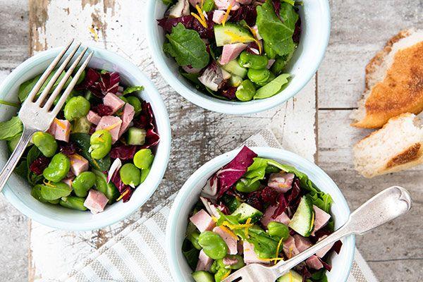 Broad bean and ham salad – Recipes – Bite