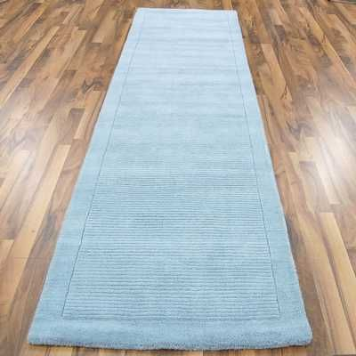 York Duck Egg Blue Hall Runner Rugs - buy online at Modern Rugs UK
