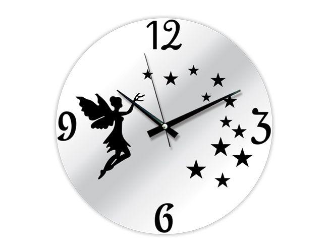 Dekoratif İlginç Melek Duvar Saati Modeli  Ürün Bilgisi;  Plastik gövde Sessiz akar saniye Çap 35 cm. Gayet şık ve aynalı duvar saati Yeni model duvar saati Ürün resimde olduğu gibidir Aynalı duvar saati