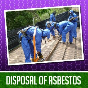 Safe removal and disposal of asbestos from a commercial building.