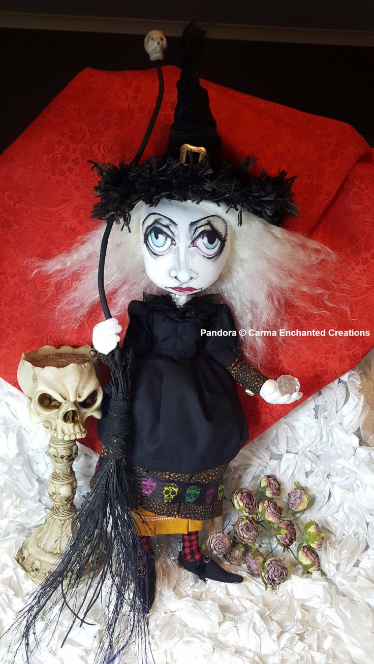 Pandora .  The Witch of Galloway © Carma Enchanted dolls