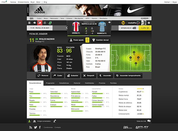 Striker Manager 2 on Behance