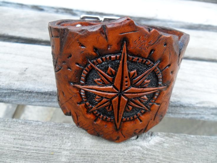 Wasteland Leather Hand Tooled Distressed by WastelandOddities, $80.00