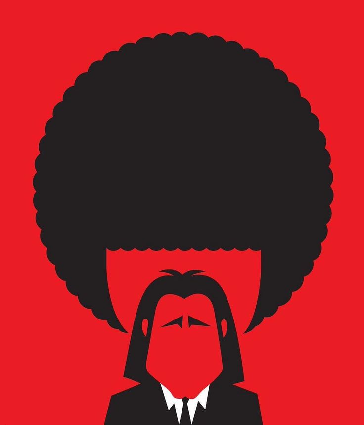 """Israeli 🇮🇱 Illustrator Noma Bar creates proving art using negative space. (An artist using """"negative space"""" relies on the space that surrounds the subject to provide shape and meaning.) """"Pulp Fiction"""" Website : nomabar.com Be you. Be dope. Be creative. A Right To Create. #ARTC®🐘 #pulpfiction #nomabar #negative #space #dope #art #quentintarantino"""