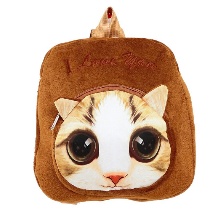$9.77 (Buy here: https://alitems.com/g/1e8d114494ebda23ff8b16525dc3e8/?i=5&ulp=https%3A%2F%2Fwww.aliexpress.com%2Fitem%2F2016-New-3D-Pattern-Kids-Plush-Backpacks-Cat-Pattern-Plush-Back-packs-Children-School-Bags-Plush%2F32760762023.html ) 2016 New 3D Pattern  Kids Plush Backpacks Cat Pattern Plush Back packs Children School Bags Plush Toys Backpack for just $9.77
