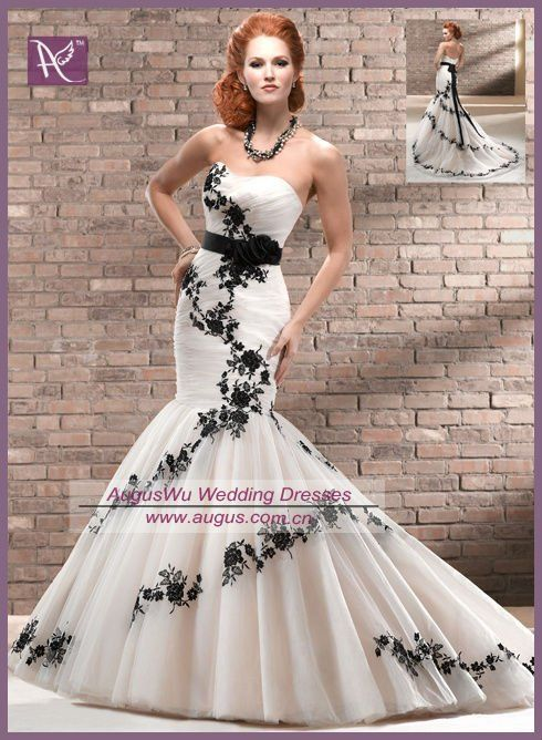 AWB0947 Unique Black And Champagne Organza Designer Wedding Dress 2013, View designer wedding dress 2013, AUGUS Product Details from Suzhou ...