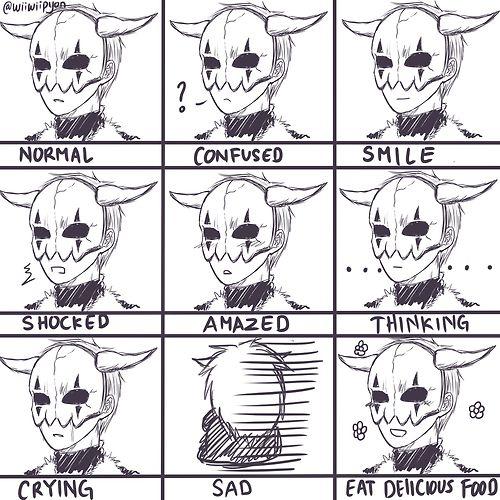 Akatsuki no Yona: Shin-ah's expressions