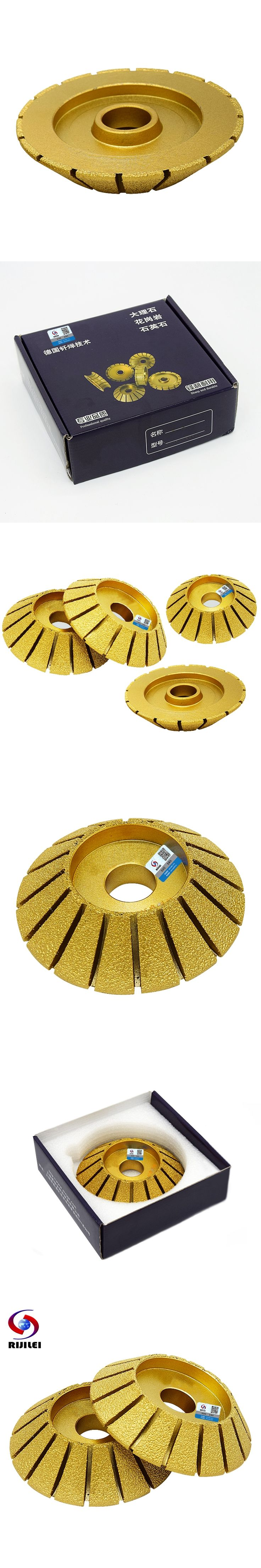 RIJILEI 140*30*35 Marble abrasive Disc 45 degree Single bevel brazed diamond grinding head diamond profile wheel electrical MX41