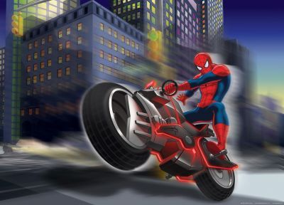 Fototapet Disney Spiderman Motociclist