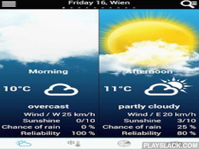 Weather For Belgium + World  Android App - playslack.com ,  A quick and easy way to get the weather forecast for your region updated in real time by meteorologists!- Flash TV updated three times a day!- Flash TV on the weekend weather, evolution in Belgium, seasonal trends, weather in Europe- Select any city in the World- Radar Animation for 3 hours- Precipitation radar, satellite, winds- Weather forecast for the morning and afternoon at a glance. - Slide quickly to next day- See a 10 days…