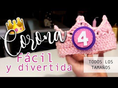 Corona de Ganchillo ¡¡MUY FÁCIL!! - Todos los tamaños - Crochet crown - YouTube