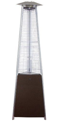 AZ Patio Heaters HLDS01-CGTHG Commercial Glass Tube Patio Heater, Bronze by AZ Patio Heaters. $369.98. Hammered Bronze finish. Wheels for easy mobility Gas Type: Propane, Butane. Heat output: 40,000 BTU's. Hiland 91-Inch Commercial Quartz Glass Tube patio heater. 94-Inch tall commercial grade radiant heat glass tube patio heater with hammered bronze finish. Access door design. Quartz glass tube. 41,000 BTU's, variable control. Wheels for easy mobility. Thermocouple and ant...