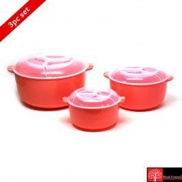 Red Forest Microwave Cook N Serve Set Pink