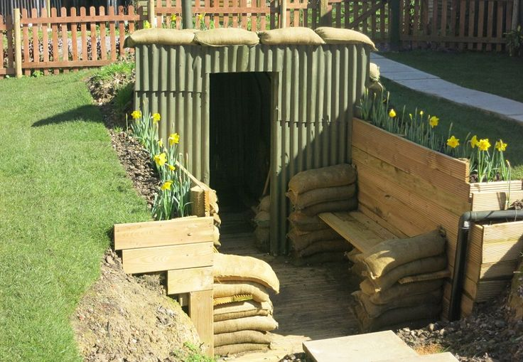 Deeper underground: The cottage also has an Anderson shelter in the garden, which makes the perfect den for children. Somerset.