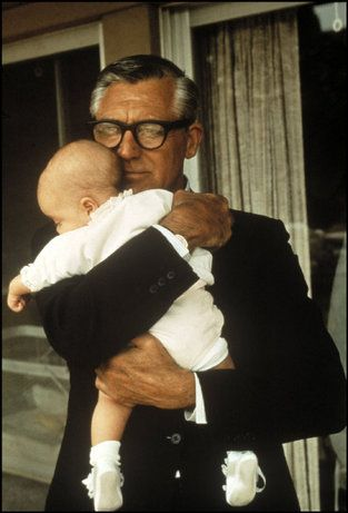 Cary Grant with daughter Jennifer, 1966. His first and only child. He was thrilled to be a father.