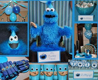 Cookie Monster party decs...love the cups! : cookie monster paper plates - pezcame.com
