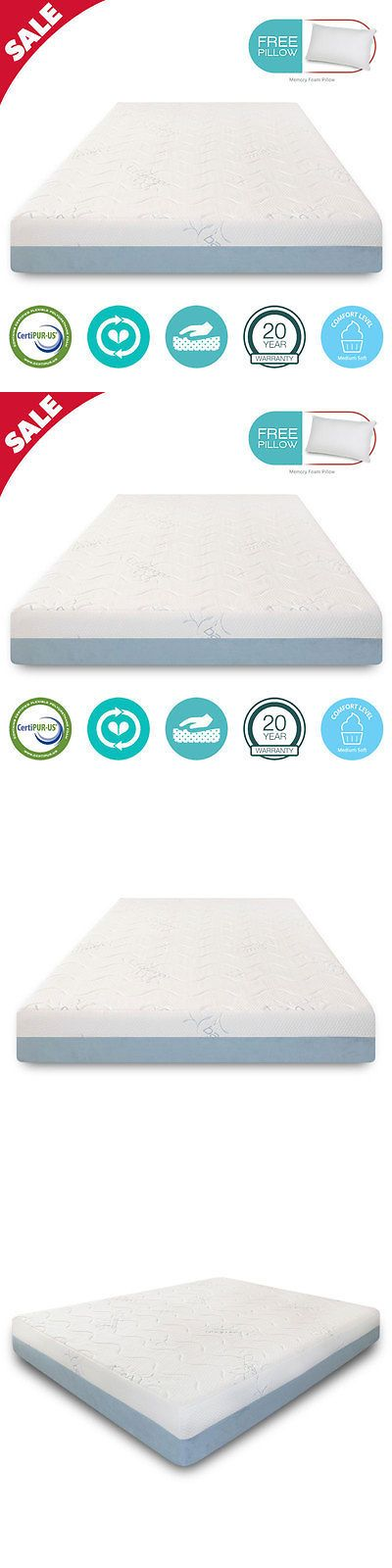 Mattresses 131588 8 Inch Full Size Cool Bamboo Gel Memory Foam Mattress Medium Soft