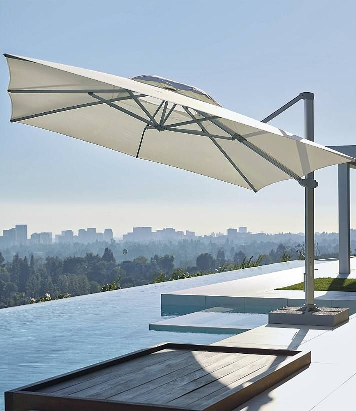 square cantilever umbrella by porta forma