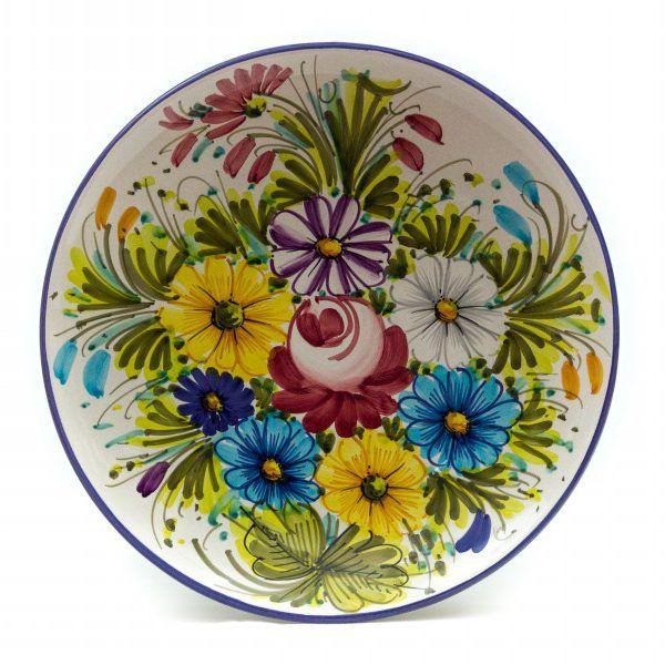 Piatto da muro in ceramica artigianale Fioraccio - Liberati