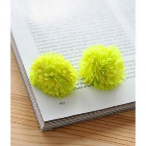 Pom Pom Earrings One Size