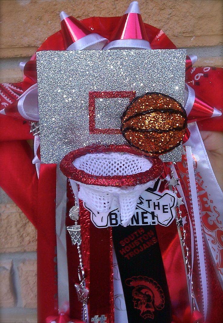 Homecoming basketball mum made by Belen Sigala