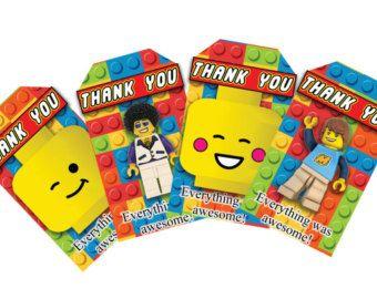 Lego hoofd thema waterfles etiketten 8 unieke door Crea8iveDesign
