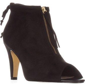 Bella Vita Nicky Ii Peep-toe Ankle Boots, Black.