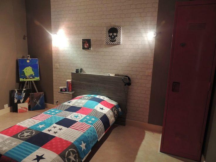 Tête de lit en palette (chambre ado style urban)