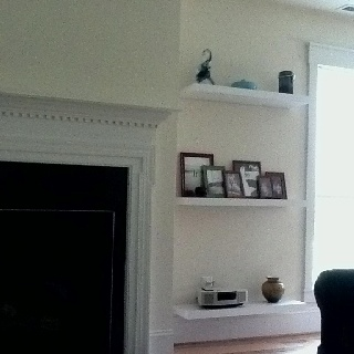 Floating Shelves Around Fireplace Great Room Pinterest