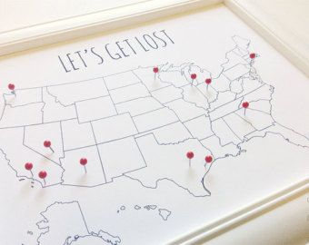 Usa Travel Map Pin Board Diy Small United States Map With