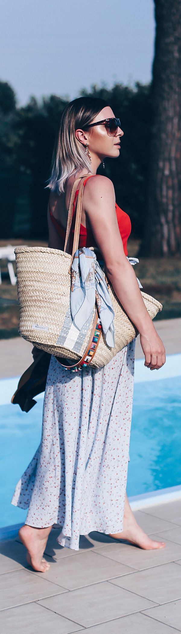 #Pooltime! Lockeres Sommer Outfit mit Wickelrock und XL-Korbtasche – Who is Mocca? – Fashion Trends, Outfits, Interior Inspiration, Beauty Tipps und Karriere Guides