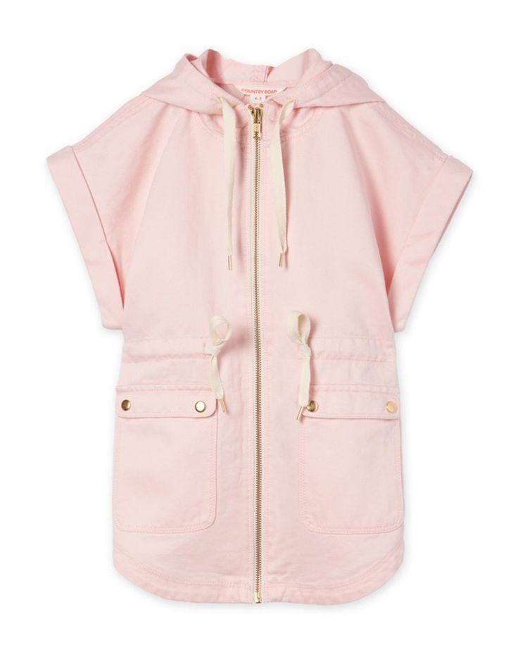 Pink Zip Through Cape