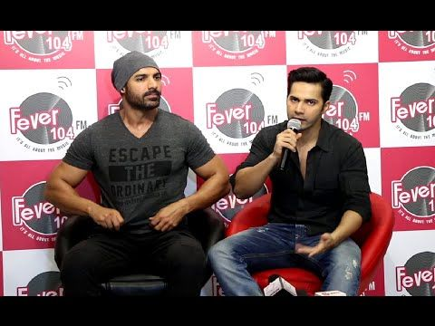 Varun Dhawan & John Abraham promotes DISHOOM at Fever 104 FM.