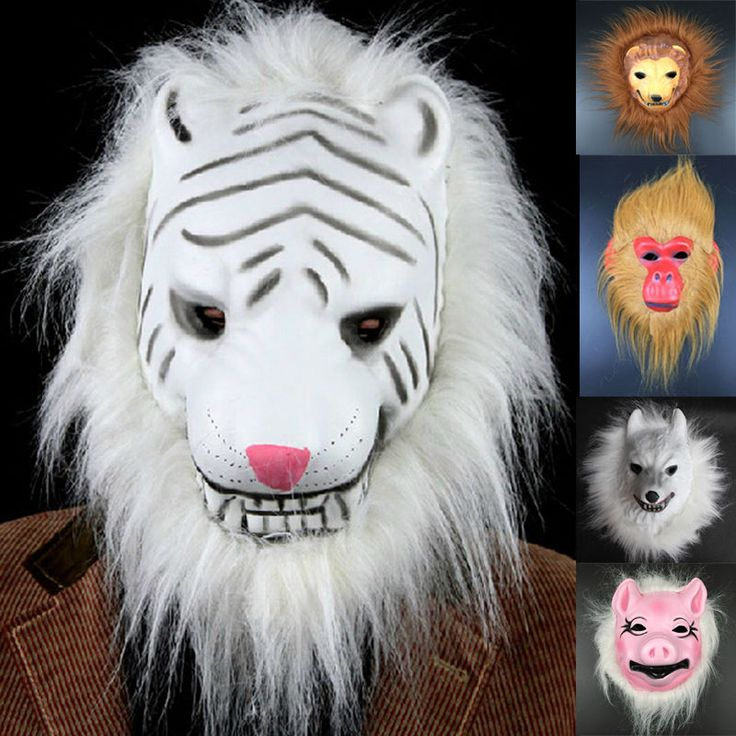 MIX Adult Head Mask Creepy Animal Halloween Costume Theater Prop Latex Party Toy #Unbranded
