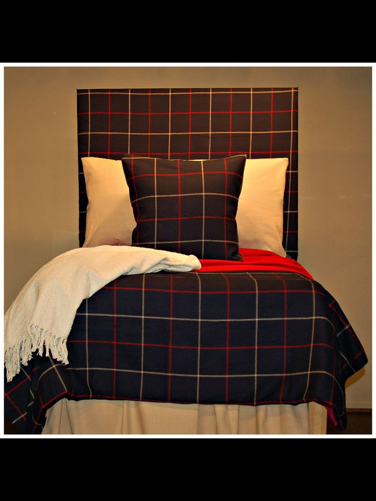 Lauren Worthy Plaid Bedding! Great Looking For Guys. Note The Padded  Headboard. Part 75