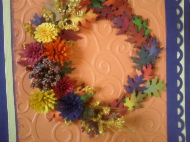 PB Oak leaf punch, Quilled Creations mums, Hand made pine cone,(bottom ...