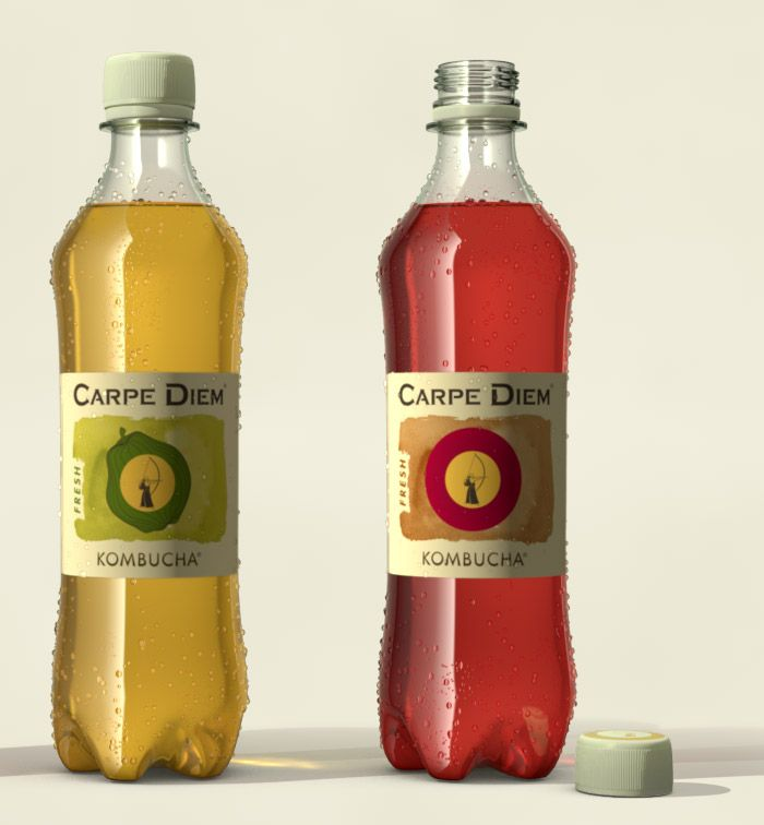 close-up Carpe Diem Fresh Photo-real pack-shot renders : illustration : by Disko Ferdi Dick