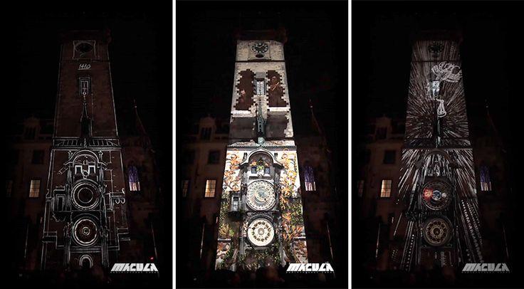 Egészen ámulatba ejtő látvány! A falára vetítették a 600 éves történelmét a prágai óratoronynak! Elképesztő!