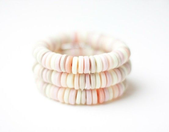 Love this bracelet that looks like a candy bracelet but is actually handmade beads :)
