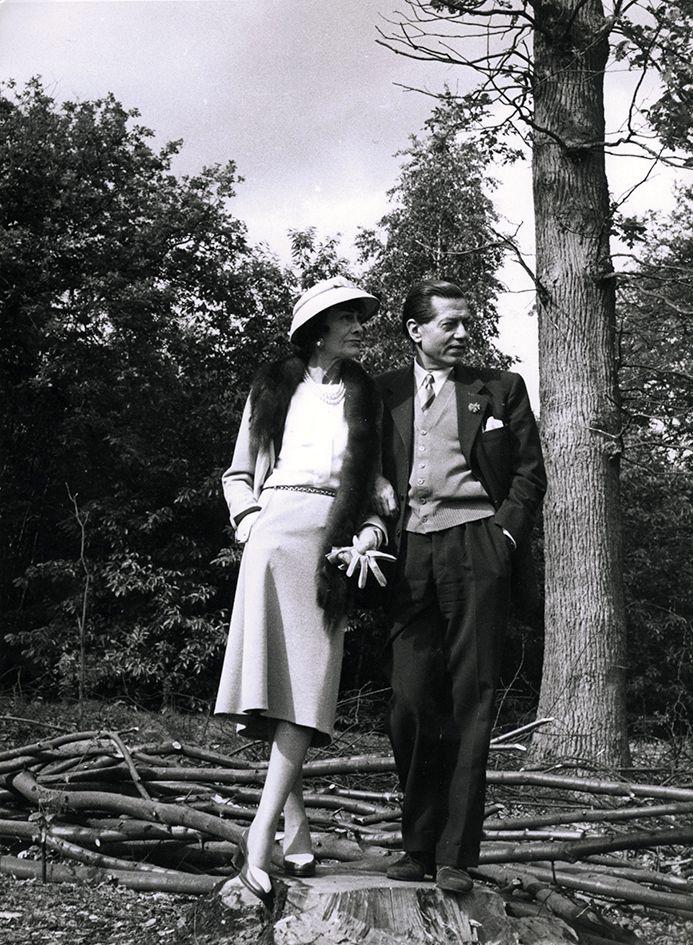Coco Chanel and Serge Lifar.  Photo by Mike de Dulmen.
