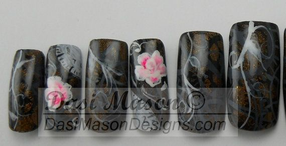 Time for the Little Things Instant Acrylic Nail Set on Etsy, $12.00