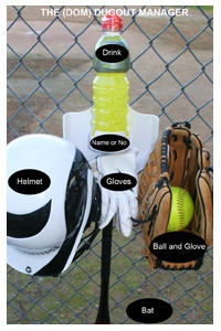 The DOM Dugout Organizer eliminates mess, so baseball/softball players & coaches can focus on the game. www.dugoutmanager.com