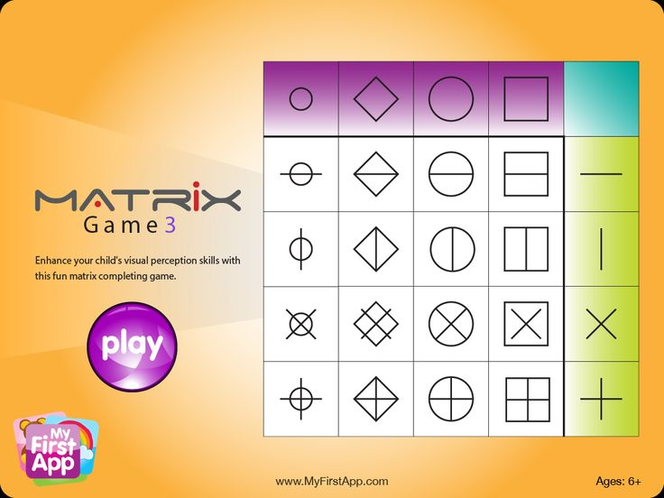 OT Cafe: App of the Week | Matrix Game. iPad app for young children that helps develop visual perceptual skills.