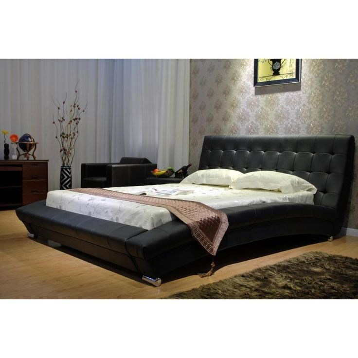 Create An Elegant Display Of Modern Prowess With This Black Arch Platform Bed It Comes