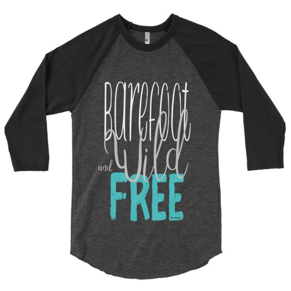 Barefoot Wild & Free #beanandjean  A stylish spin on the classic baseball raglan. The combed cotton blend makes it super soft, comfortable, and lightweight. Made in the USA, sweatshop free