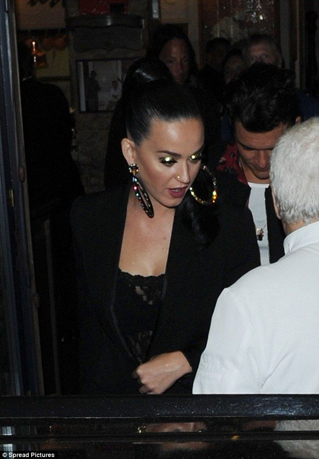 Smitten kittens: They've been near inseparable since going public with their romance earlier this year and the loved-up displays between Katy Perry and Orlando Bloom just keep on coming as they enjoyed a romantic dinner date at Cannes' famous Michelangelo restaurant on Wednesday evening