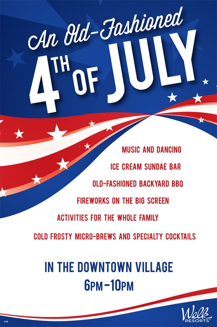 4th Of July Poster Idea Flyer Layouts Pinterest