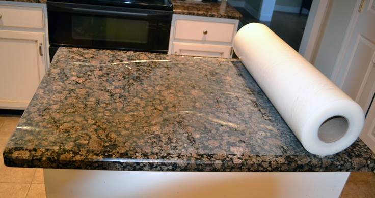 Presto Tape S Counter Protection Film Is A Temporary Way To Protect Marble Granite Quartz And