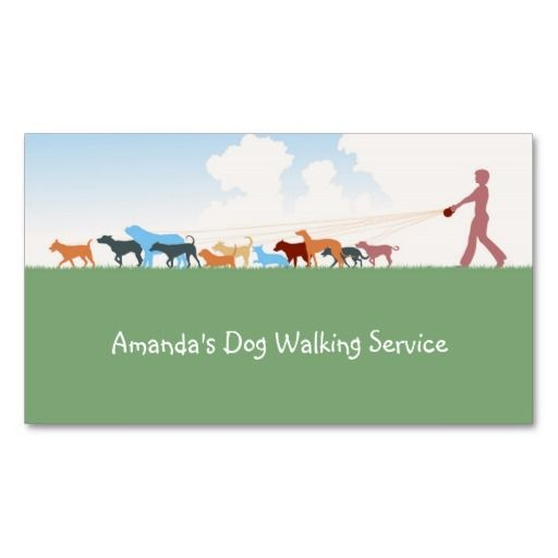 Dog walking service business card. Don't miss opportunity to get this. Original product.
